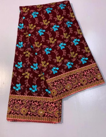 Gold Embroidery work African Dresses for women's Daily Wear dress Material