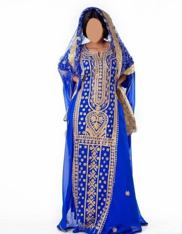 2 piece Dubai Chiffon Kaftan For Women Party Wear Stone Bead Work on Dress Moroccan