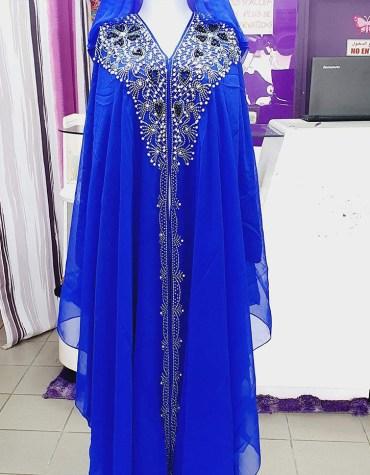 African Hoodies Stone & Moti Bead on Dress For Women Party Wear Dubai Kaftan