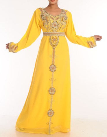 African Attire long Sleeve Party Wear kaftan Dresses Wedding For Women Dubai
