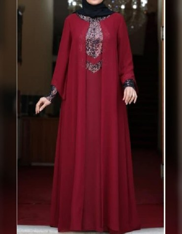 African Attire Long Sleeve Abaya Dresses For Women Moroccan Normal Wear Dubai