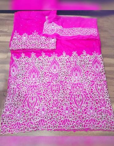 Nigerian Bridesmaid Beaded Wrapper Taffeta George Fabric Wedding Dress Material