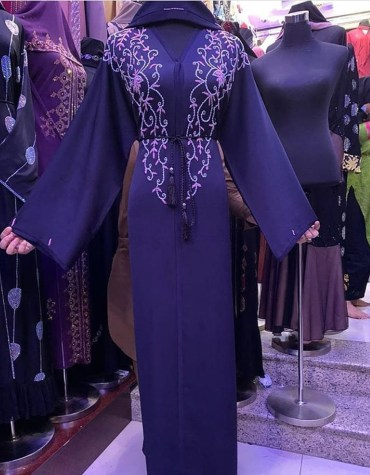 Fancy Attire Long Sleeve With Premium Embroidery African Designer Abaya Dresses for Women