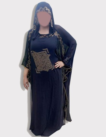 Women gowns and Evening Long Sleeve Hand Work Stylish Black Abaya Moroccan Dubai Kaftan