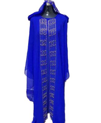 Buy New African Style Rhinestone Chiffon Kaftan For Women