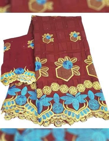 Elegant Women African Attire Swiss Voile Premium Embroidered Elegant Dress Material