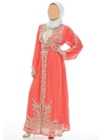 New Elegant Embroidery with Caftan Dresses for Women Party Wear Abaya Dubai Kaftan