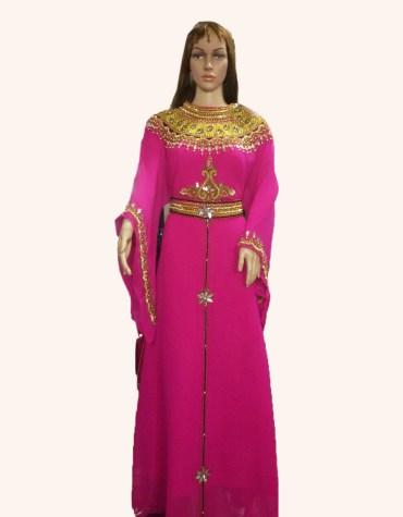 New Elegant Chiffon Kaftan For Evening Party Embroider Dubai Dress For Wedding