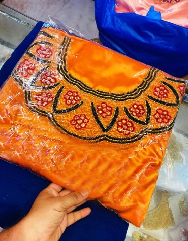 New Classic Designer For Wedding Satin Dresses Material Fancy Wear For Women