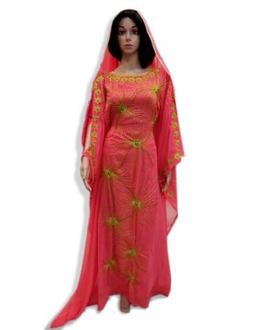 New Classic Designer Long Sleeve Kaftan Dubai Morrocan Beaded Dresses For Women