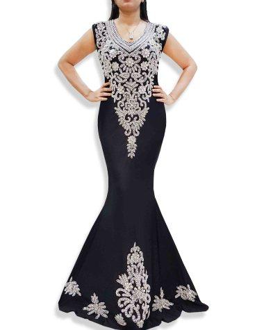 New Lycra Prom Sleeveless Open Back Elegant Party Wear Bridesmaid Dress For Women