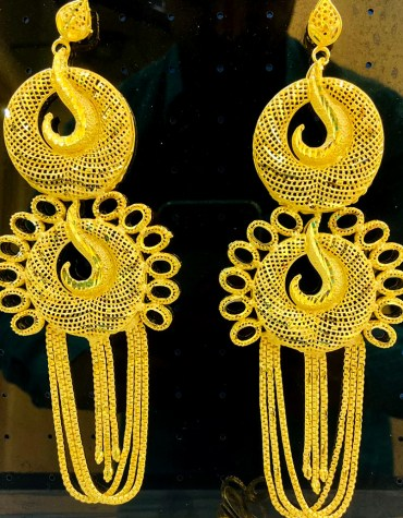 2 Gram Gold Fashionable Wedding Party Wear Earring Jewellery Set for Women