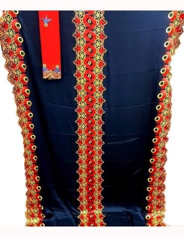 Satin Silk Formal Beautiful Embroidery Design Dress Materials For Women