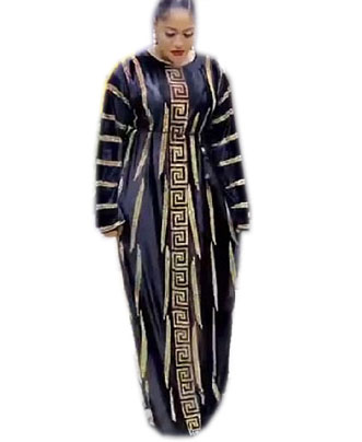 Elegant Long Sleeve Designer Rhinestone Party Dress