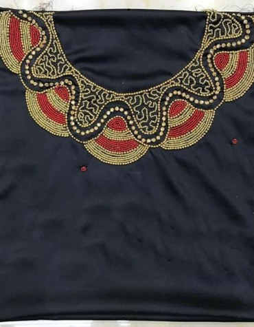 New Trendy African Attire Designer party Women Wear Satin Silk Dress Material For Women