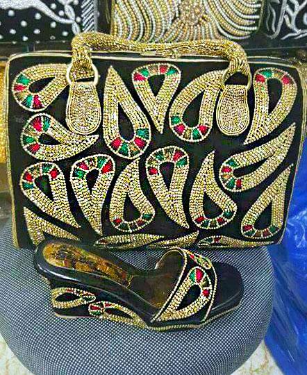 Trendy Women Beaded Bag handmade weave crystal pearl bags for wedding & party