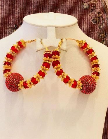 Beautiful Crystal Beads African Elegant Earring Jewellery Set for Women Parties