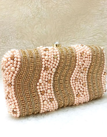 African New Trendy Beaded Work Stylish Wedding Party 2021 Handbag for Women