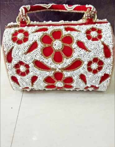Latest Trendy Beaded Work Stylish Wedding Party 2021 Handbag for Women
