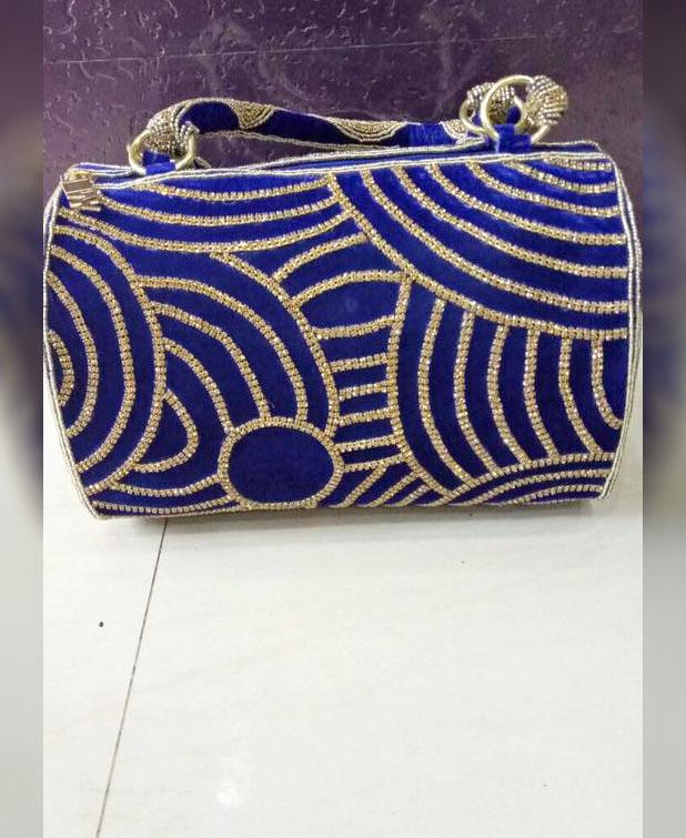 African Latest Beaded Work Stylish Wedding Party 2021 Handbag for Women
