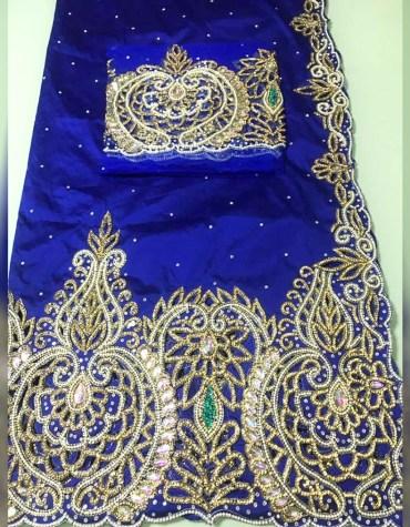 Nigerian Designer Heavy Beaded George Wrapper Wedding Dress For Women