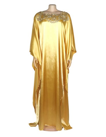 African Latest Kaftan Beads work Gown Formal Chiffon Party Wear For Women