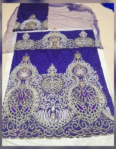 African latest Heavy Wedding Dress Material Silk Nigerian George For Women