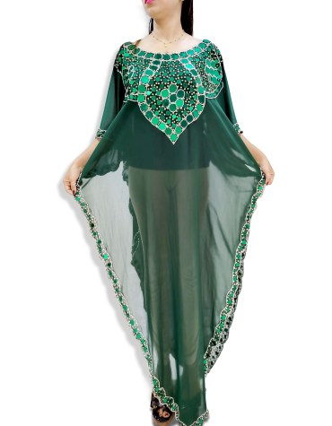 Premium Beach Cover up Evening Party Wear Women Dubai Kaftan For Women