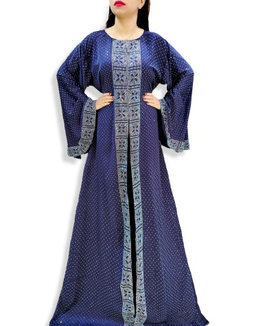 Elegantly Designer Unique Premium Rhinestone Work Party Abaya For Women