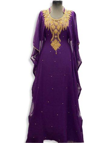 African Attire Abaya Gold Work Material Moroccan Party Wear Dubai kaftan
