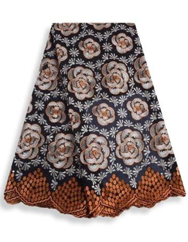 New Elegant Women African Attire Swiss Voile Premium Embroidered Elegant Dress Material