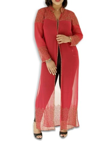 Latest African Attire Bridesmaid Abaya Beaded Formal Dubai Kaftan for Women