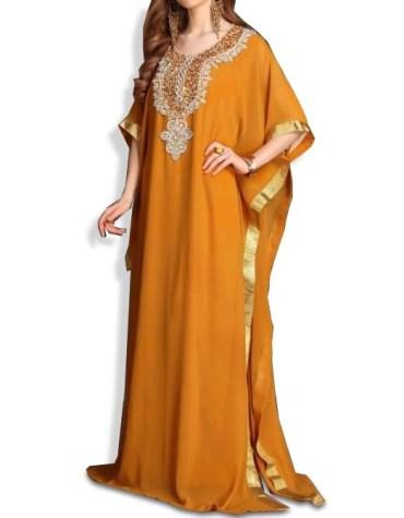 Latest Moroccon Kaftan for Women Beads work Maxi Dress Gown Formal Chiffon African Wear