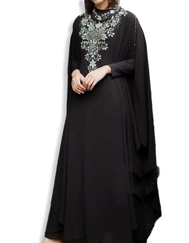 New Elegant Chiffon Kaftan For Evening Party & Wedding Embroider Dubai Dress For Woman