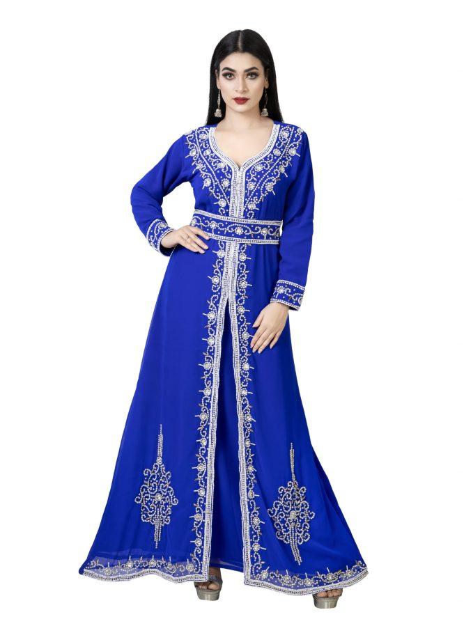 African Attire New Dubai Party Wear Kaftan Embroidery Wedding Gown For Women