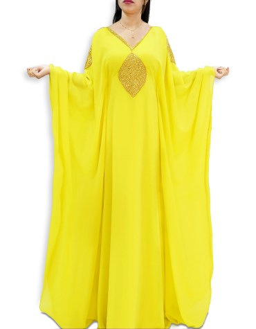 African Attire Dubai Chiffon Dresses For Women Embroidery Work For Wedding Kaftan