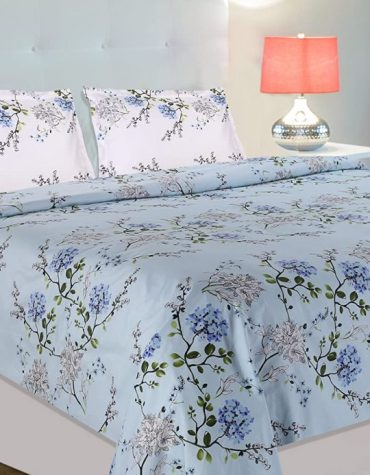 Summer Dream 100% Cotton Double Bedsheet with 2 Pillow Covers