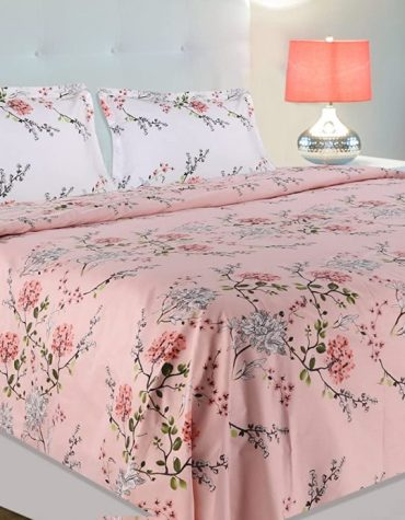 Summer Dream, 100% Cotton Double Bedsheet with 2 Pillow Covers