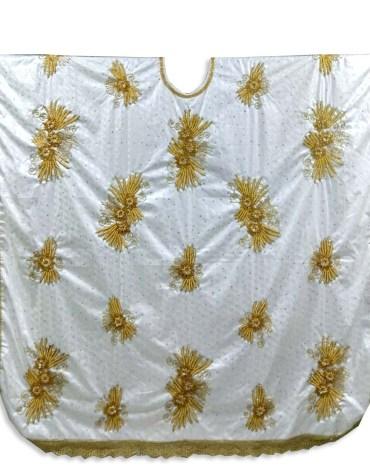 New Brilliant Elegant 100% Super Magnum Gold Getzner Bazin Party Wear For Women