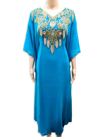 Designer Collection Beaded Moroccan Dresses for women's Evening Party Chiffon Kaftan
