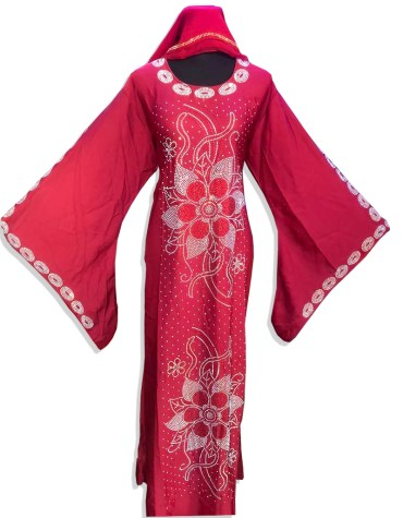 New Fancy Collection With Silver Beaded Work Chiffon Moroccan Kaftan For Women