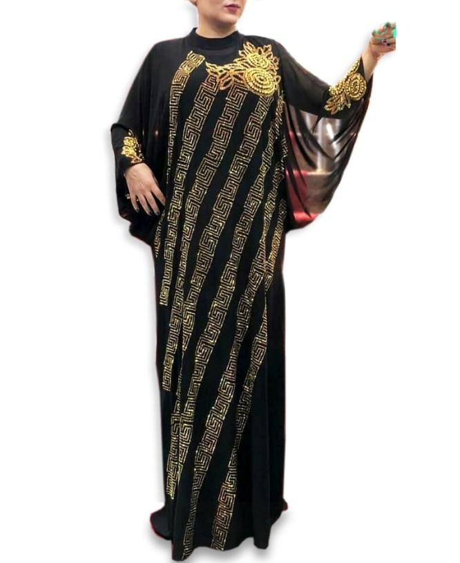 New Arrived Premium Quality Rhinestone Beaded Dubai Kaftan Dress for Women