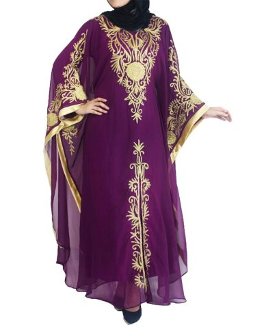 Elegant Gold Embroidery Dubai Abaya Evening Gown Caftan African Dresses for Women
