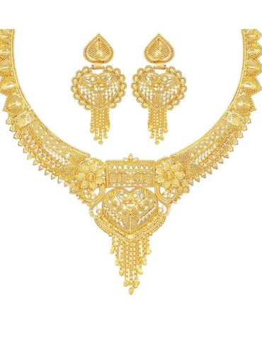 Party Collection Jewellery Neckalce Sets for Women (One Gram Golden)