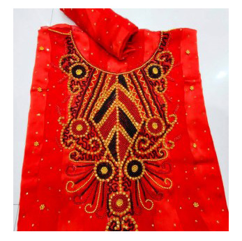 African Latest Golden Moroccan Beaded Party Wear Dress Material For Women