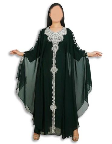 African Latest Kaftan Dresses for Women Long Sleeve Formal Evening Dress