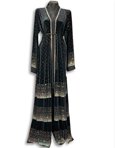 African New Premium Party Wear Kaftan with Rhinestone Beaded for Women
