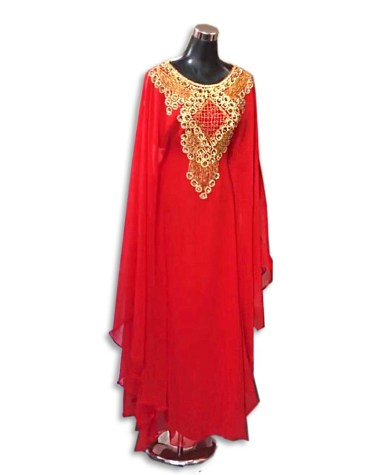 African Attire Moroccan Beaded Crystal Embroidery Party Wear Dubai Kaftan