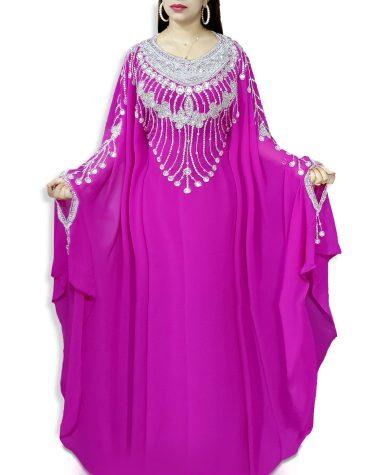 African Attire Evening Golden Beaded Plus size Dubai Party Kaftan for Women