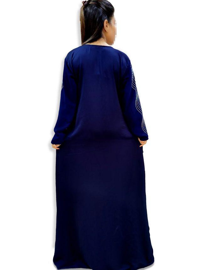 Premium Designer Moroccan Beaded Crystal Embroidery Party Dubai Kaftan For Women